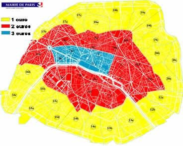 carte stationnement résidentiel paris Ménilmontant, mais oui madame: Les tarifs de stationnement
